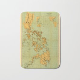 Map Of The Philippines 1898 Bath Mat