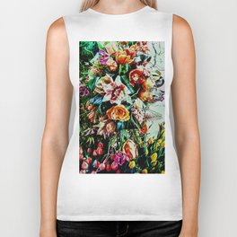 Flowing Bouquet Biker Tank