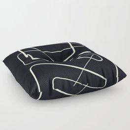 Movements Black Floor Pillow