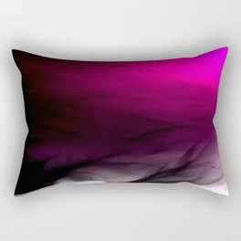 Pink Flames Pink to Black Gradient Rectangular Pillow