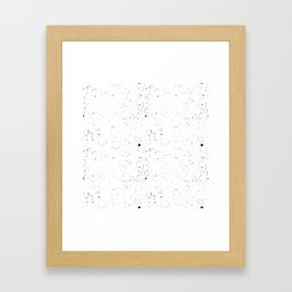 splatte patten Framed Art Print