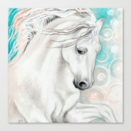 Andalusian Horse Blue Canvas Print