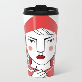 Red riding hood Metal Travel Mug
