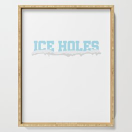 I'm Surrounded By Ice Holes Ice Hockey Ice Skating Serving Tray
