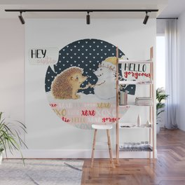 Winter Woodland: Hey, Cutie; Hello, Gorgeous Wall Mural