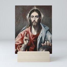 "El Greco (Domenikos Theotokopoulos) ""Christ Blessing ('The Saviour of the World')"" Mini Art Print"