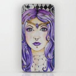 Fantasy gothic watercolor art iPhone Skin