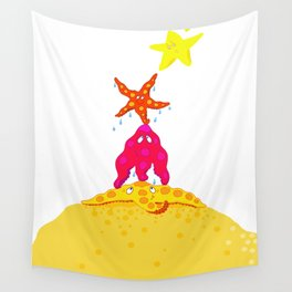 Starfishes and a Star Wall Tapestry