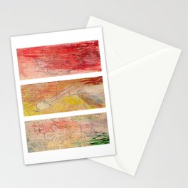 The Unborn, The Living, The Dead Stationery Cards