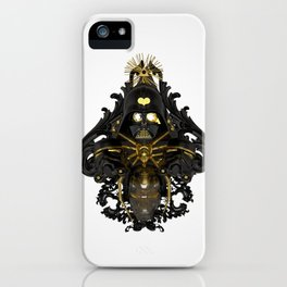 Black stress iPhone Case
