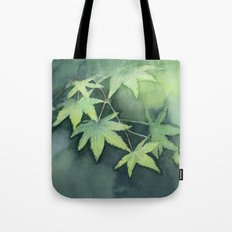 Japanese Maple Watercolor Green Leaves Tree Branch Nature Tote Bag