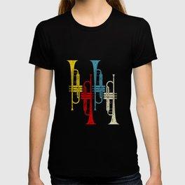 Retro Trumpet Musician Trumpeter Jazz T-shirt