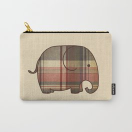 Plaid Elephant  Carry-All Pouch