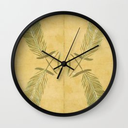 Full Peacock Feathers Wall Clock