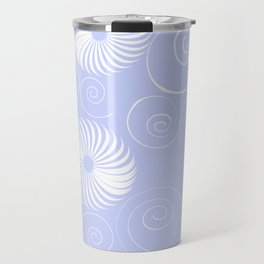 White Spirals Travel Mug