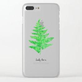 Lady fern Clear iPhone Case