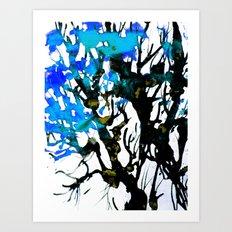 Blue ash Art Print