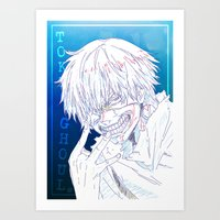 tokyo ghoul Art Prints featuring Tokyo Ghoul  by Neo Crystal Tokyo