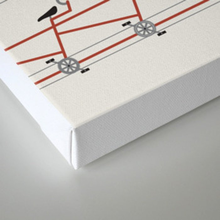 Stretched Out Tandem Canvas Print