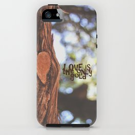 Love is the only gold iPhone Case