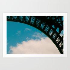 Detail of Eiffel. Art Print
