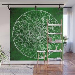 Fire Blossom - Emerald Wall Mural