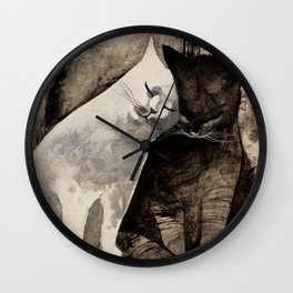 MORNING KISS by Raphaël Vavasseur Wall Clock