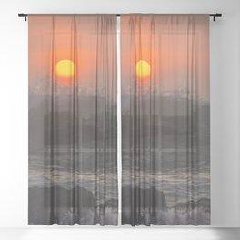 Summer Waves Sheer Curtain