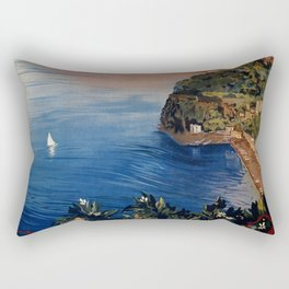 Italy Sorrento Bay of Naples vintage Italian travel Rectangular Pillow