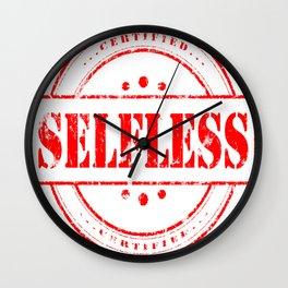 Selfless is a Virtue Wall Clock