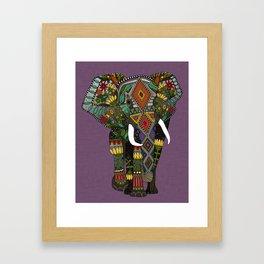 floral elephant violet Framed Art Print