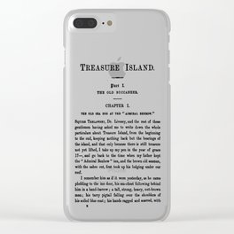 Treasure Island Robert Louis Stevenson First Page Clear iPhone Case