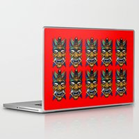 chinese Laptop & iPad Skins featuring Chinese Masks by Ron (Rockett) Trickett