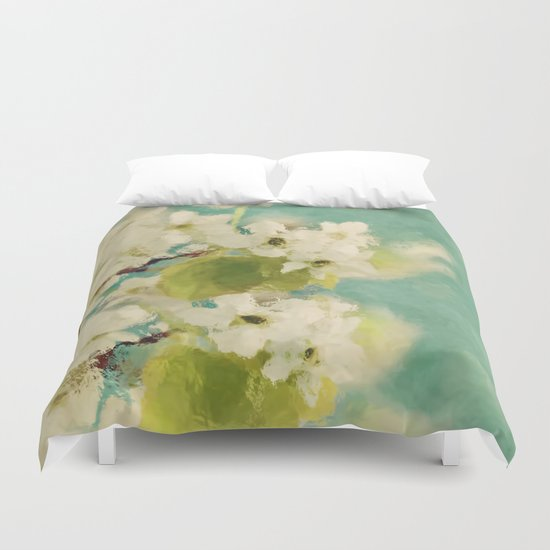 Dream of spring - Apple Blossom Appleblossoms  Flower Floral Duvet Cover