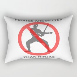 Pirates are Better Rectangular Pillow