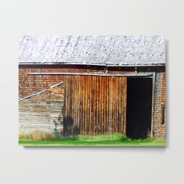 Open Barn Door Metal Print