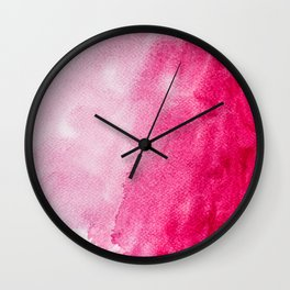 Hopeless, Romantic And Pink #decor #buyart #society6 #art #prints Wall Clock