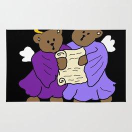 Singing Teddy Bear Angels Rug