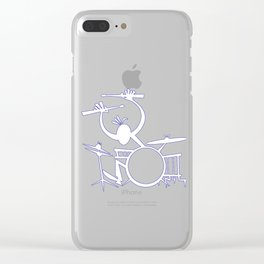 energic drummer Clear iPhone Case
