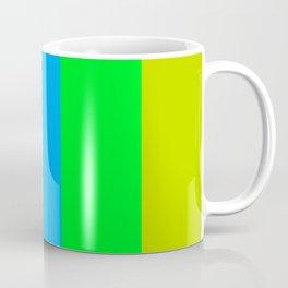 Colorful Stripes Purple Blue Green Coffee Mug
