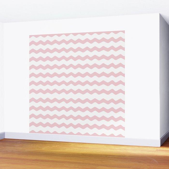 Pink Zig Zag Pattern Wall Mural