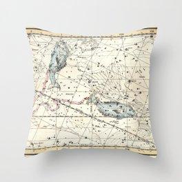 Pisces Constellation Celestial Atlas Plate 22 - Alexander Jamieson Throw Pillow