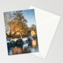 The Canal At Newbury Stationery Cards