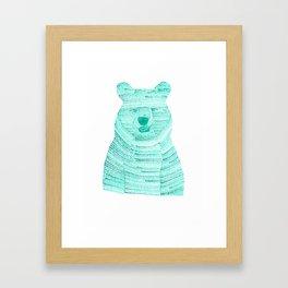 Green Bear Framed Art Print