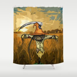 Scarecrow Tattoo Shower Curtain