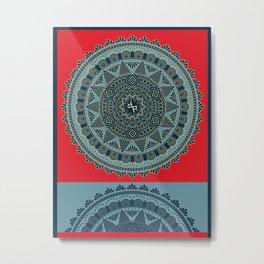 Rubino Zen Flower Yoga Mandala 1 Metal Print