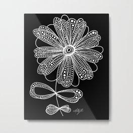 White Flower 4 Metal Print