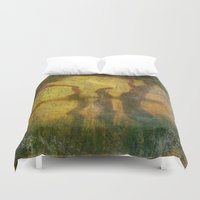 shih tzu Duvet Covers featuring REFLECTIONS ON LAO TZU by emotionalorphan
