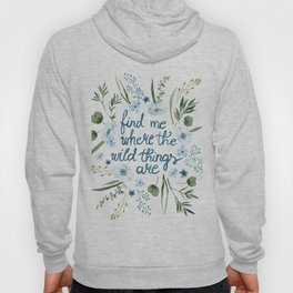 Floral Quote Blue Hoody