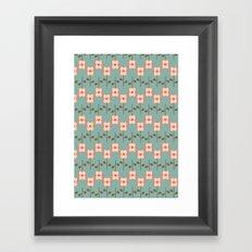 Geo Flower Line Framed Art Print